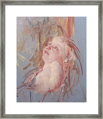 Young Child In Its Mother's Arms Framed Print by Mary Stevenson Cassatt