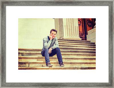 Young College Student 15042515 Framed Print