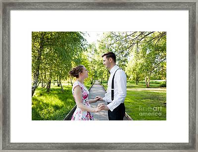 Young Couple In Love Together Framed Print