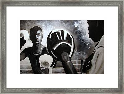 Young Cuban In Training   Framed Print by Ottoniel Lima