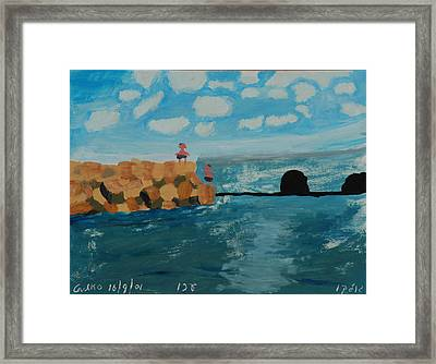Young Divers Framed Print by Harris Gulko
