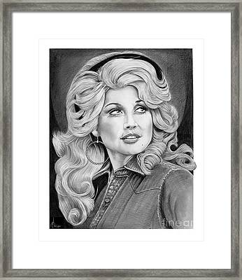 Young Dolly Parton Framed Print by Murphy Elliott