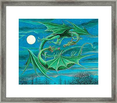 Young Dragons Frisk Framed Print by Charles Cater