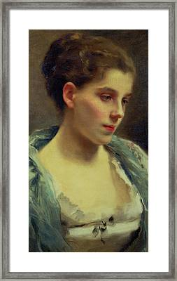 Young Dreamer Framed Print by Gustave Jacquet