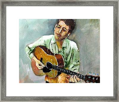 Young Dylan 1 Framed Print by Udi Peled