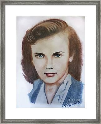 Young Elizabeth  Framed Print