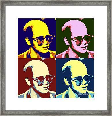 Young Elton John Pop Art Poster Framed Print by Pd