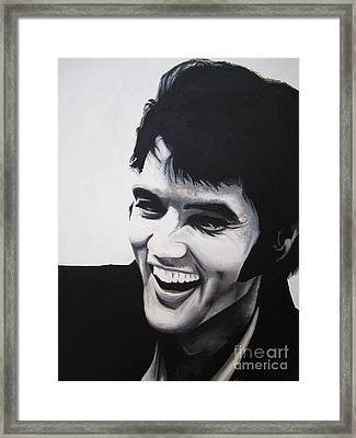 Young Elvis Framed Print by Ashley Price