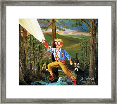Young Explorer Framed Print