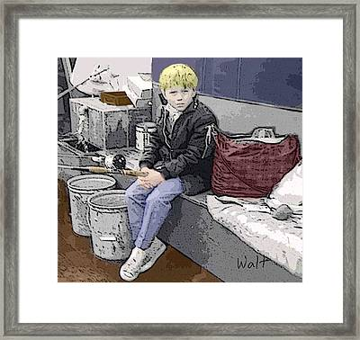 Young Fisherman Framed Print