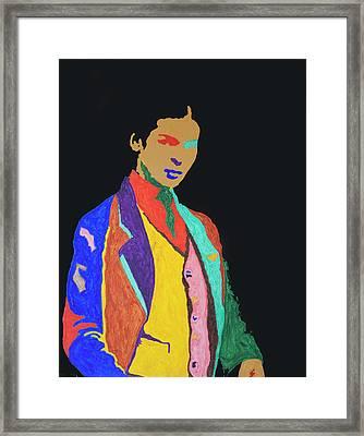 Young Frida K Framed Print by Stormm Bradshaw