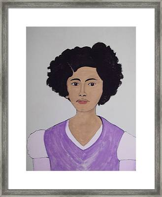 Young Frida Framed Print by Stephanie Moore