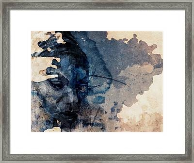 Framed Print featuring the mixed media Young Gifted And Black - Nina Simone  by Paul Lovering