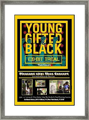 Young Gifted And Black Thee Encore Variant Framed Print by JaFleu