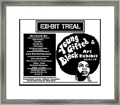 Young Gifted Black Flyer Framed Print by JaFleu