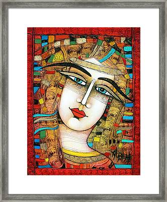Young Girl Framed Print by Albena Vatcheva