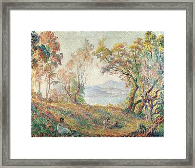 Young Girl In The Forest Framed Print by MotionAge Designs