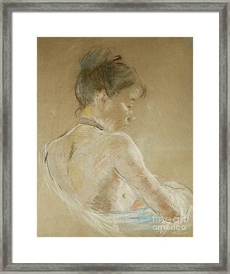 Young Girl With Naked Shoulders Framed Print