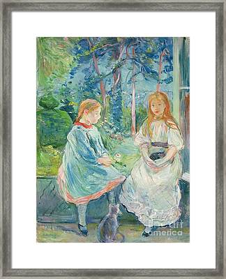 Young Girls At The Window Framed Print