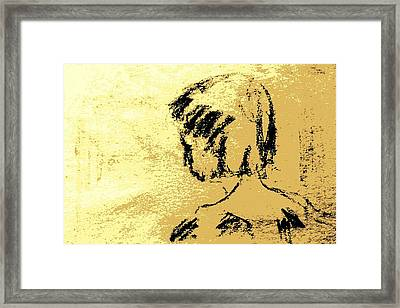 Young Girl's Shoulders Framed Print by Sheri Buchheit