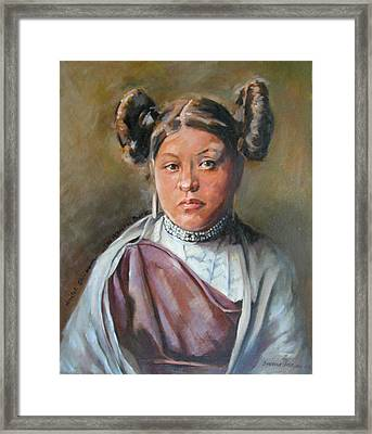 Young Hopi Girl Framed Print