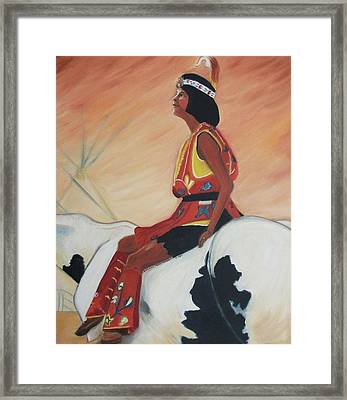 Young Indian Native Framed Print by Suzanne  Marie Leclair