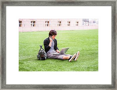 Young Japanese Man Traveling, Working In New York 15041418 Framed Print