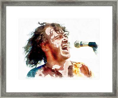 Young Joe Cocker Framed Print