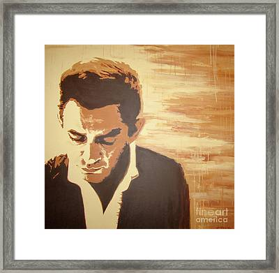 Young Johnny Cash Framed Print