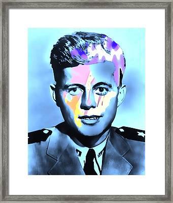 Young Kennedy Artwork Framed Print by Alex Antoine