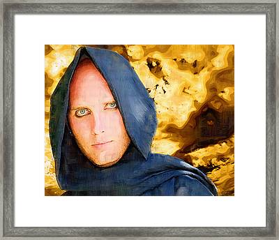 Young Knight Framed Print by Clarence Alford