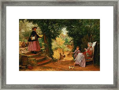 Young Lady Bountiful Framed Print by Richard Redgrave