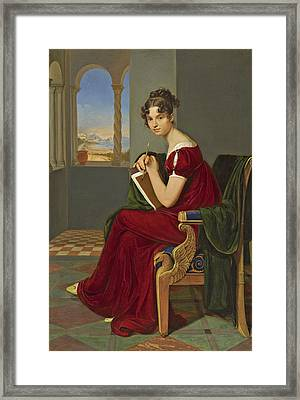 Young Lady With Drawing Utensils Framed Print