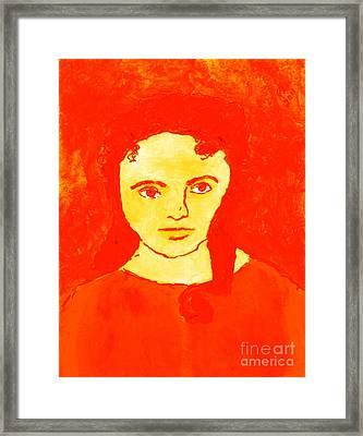 Young Liz Taylor 1 Framed Print by Richard W Linford