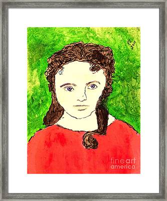 Young Liz Taylor 2 Framed Print by Richard W Linford