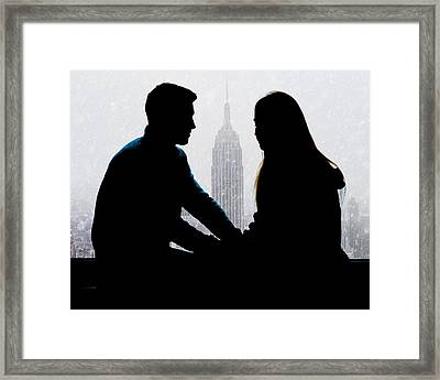Framed Print featuring the photograph Young Love     by Chris Lord