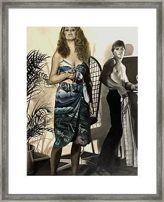 Young Love Framed Print by Anni Adkins