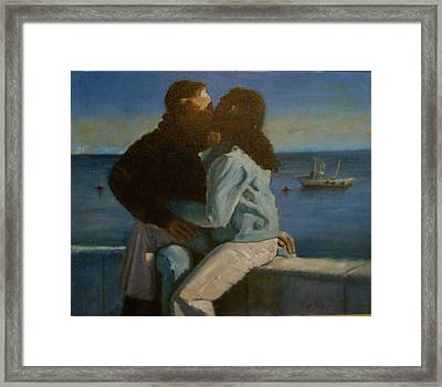 Framed Print featuring the painting Young Love by John Reynolds