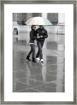 Young Love Under The Weather Framed Print by Jez C Self