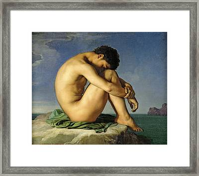 Young Man By The Sea Framed Print