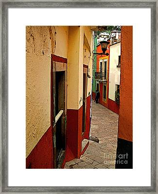 Young Man In The Alley Framed Print by Mexicolors Art Photography
