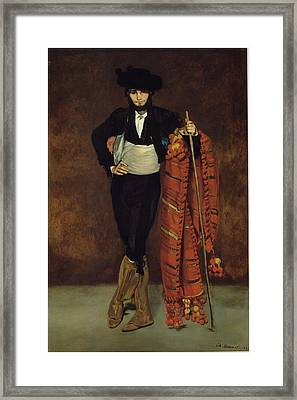 Young Man In The Costume Of A Majo Framed Print