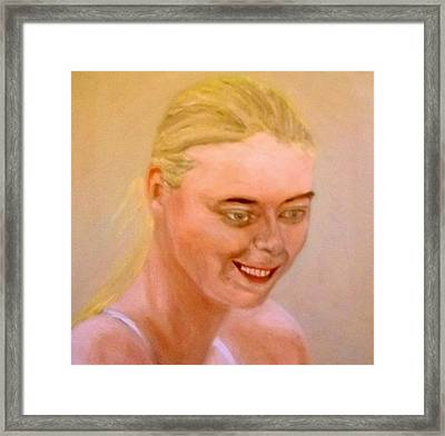 Young Maria Framed Print by Peter Gartner