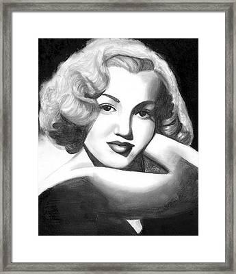 Young Marilyn Framed Print by Scarlett Royal