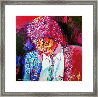 Young Michael Jackson Framed Print