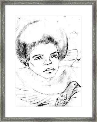 Young Micheal Jackson  Framed Print