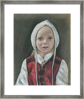 Young Norwegian Girl            Framed Print