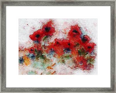 Framed Print featuring the painting Young Ones by Claire Bull
