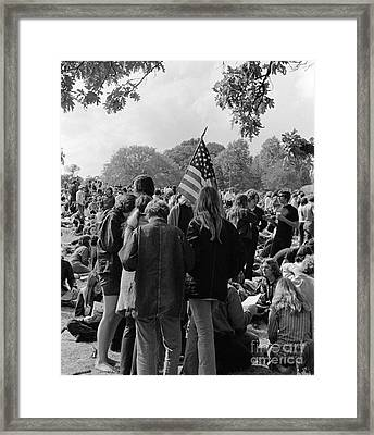 Young People At A Demonstration, C.1970s Framed Print