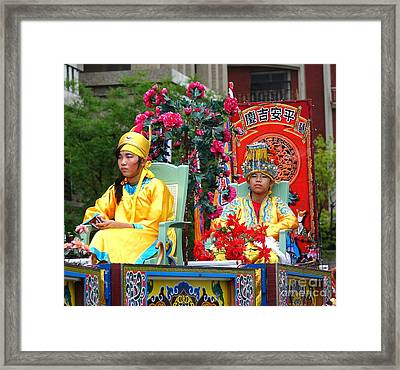 Framed Print featuring the photograph Young People Dreesed In Traditional Chinese Robes by Yali Shi